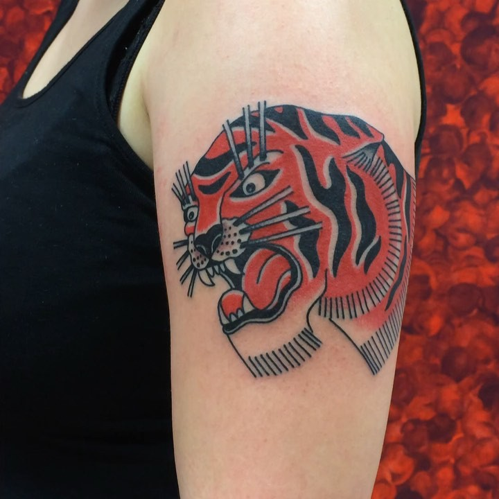 Red tiger! For appointments in november and beyond: mattesaaritattoo@gmail.com
