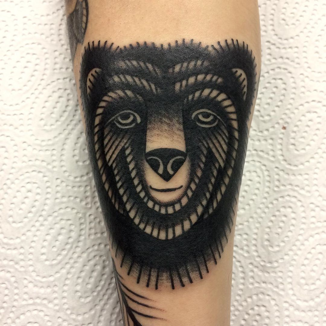 Bear! For bookings: mattesaaritattoo@gmail.com