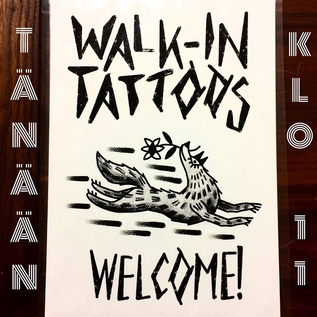Me and @hannatattooer will be doing walk-in tattoos today. From 11 to 16 or until the last customer. Welcome! // Tänään lauantaina klo11 alkaen walk-in tatskoja tekemässä minä ja @hannatattooer. Olemme paikalla ainakin klo16 asti. Tervetuloa! #walkintattoohelsinki  #tattoohelsinki #helsinkitattoo #polaristattoohelsinki #tatuointiliikehelsinki #tatuoinnithelsinki #mattesaari  #hannatattooer